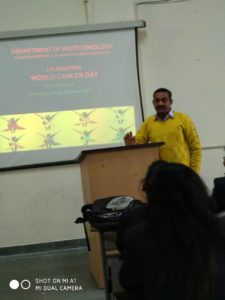 "Organised session on ""World Cancer Day"" @ Media Center Biotechnology"
