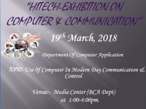 "Paper presentation on ""Use of Computer in Modern days Communication and Control"". @ Media Center, Room no. 602"