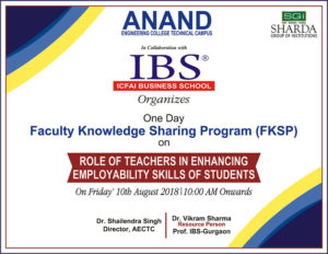 Role of Teachers in Enhancing Employability Skills of  Students @ Anand Engineering College