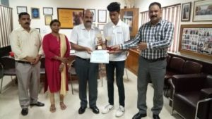 Student of HCST won State Lawn Tennis Under- 18 Tournament @ HCST @ martyr vinay singh pathik sports complex