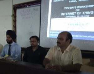 "Workshop on ""Internet of Things"" @ HCST @ Hindustan College of Science & Technology"