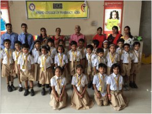 Students of ACP launches awareness campaign for school students @ ANAND COLLEGE OF PHARMACY