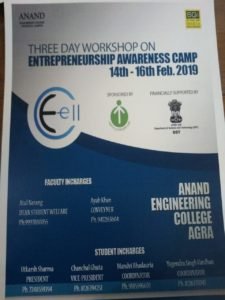 Tree Day workshop on Entrepreneurship Awareness Camp @ Anand Engineering college