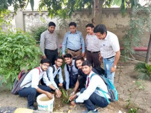 Anand Engg. College Celebrated the Birthday of Dr. APJ Abdul Kalam as Plantation the seedling in Campus