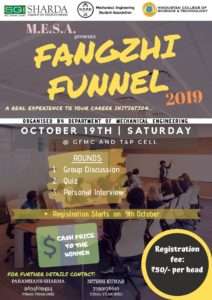 Fangzhi Funnel 2019 @ Hindustan Campus- GFMC AND T & P CELL