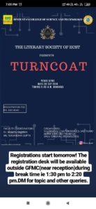 Turncoat @ Hindustan Campus- GFMC Hall